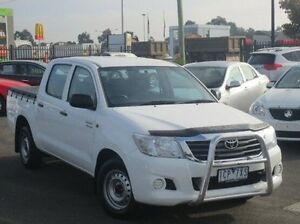 2012 Toyota Hilux GGN15R MY12 SR Double Cab White 5 Speed Automatic Utility Coolaroo Hume Area Preview