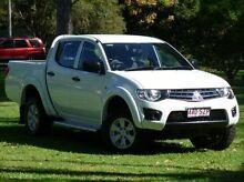2013 Mitsubishi Triton MN MY13 GLX Double Cab White 5 Speed Manual Utility West Ballina Ballina Area Preview