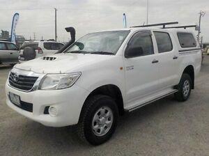 2012 Toyota Hilux White Manual Utility Pakenham Cardinia Area Preview