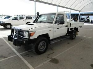 2014 Toyota Landcruiser VDJ79R MY13 Workmate White 5 Speed Manual Cab Chassis Bungalow Cairns City Preview