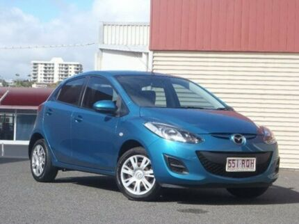 2011 Mazda 2 DE10Y1 MY10 Neo Aquatic Blue 5 Speed Manual Hatchback Gladstone Gladstone City Preview