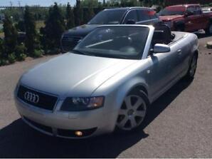 Audi A4 2006 convertible. Aucune rouille. 8 mags/ 8 pneus.