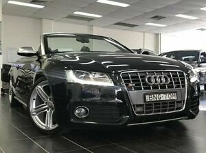 2010 Audi S5 8T MY10 S tronic quattro Black 7 Speed Sports Automatic Dual Clutch Cabriolet Kings Park Blacktown Area Preview