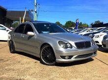 2001 Mercedes-Benz C320 W203 Elegance Silver 5 Speed Auto Seq Sportshift Sedan Kings Park Blacktown Area Preview