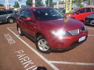 2009 Mitsubishi Outlander ZG MY09 LS Red 6 Speed Constant Variable Wagon Myaree Melville Area Preview