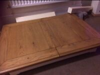 Cream and oak table from BHS