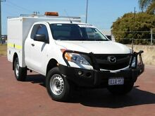 2013 Mazda BT-50 UP0YF1 XT Freestyle White 6 Speed Manual Cab Chassis Spearwood Cockburn Area Preview