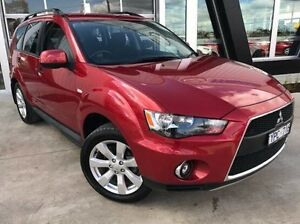 2011 Mitsubishi Outlander ZH MY11 Activ 2WD Red 6 Speed Constant Variable Wagon Mitchell Park Ballarat City Preview