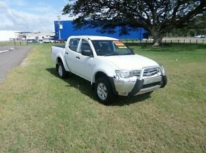 2011 Mitsubishi Triton MN MY12 GLX Double Cab White 4 Speed Automatic Utility Townsville Townsville City Preview