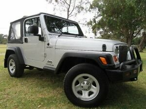 2003 Jeep Wrangler TJ MY2003 Sport Silver 5 Speed Manual Softtop Doveton Casey Area Preview