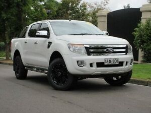 2014 Ford Ranger PX XLT Double Cab 4x2 Hi-Rider White 6 Speed Manual Utility Medindie Gardens Prospect Area Preview