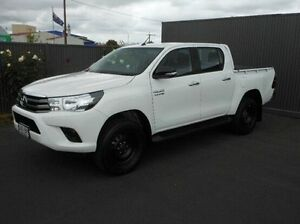2015 Toyota Hilux GUN126R SR Double Cab White 6 Speed Manual Utility Mount Gambier Grant Area Preview