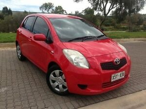 2008 Toyota Yaris NCP91R YRS Red 4 Speed Automatic Hatchback Ingle Farm Salisbury Area Preview