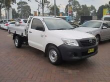 2013 Toyota Hilux TGN16R MY12 Workmate White 4 Speed Automatic Cab Chassis Baulkham Hills The Hills District Preview