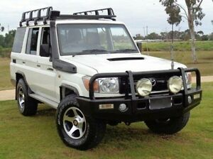 2007 Toyota Landcruiser VDJ76R Workmate White 5 Speed Manual Wagon Elizabeth Playford Area Preview