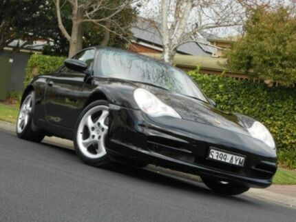 2001 Porsche 911 Carrera 996 MY02 Cabriolet Black 5 Speed Auto Seq Sportshift Convertible Prospect Prospect Area Preview