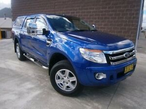 2014 Ford Ranger PX XLT Double Cab 4x2 Hi-Rider Blue 6 Speed Sports Automatic Utility Mitchell Bathurst City Preview