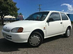 1998 Toyota Starlet Life White 5 Speed Manual Hatchback Westcourt Cairns City Preview
