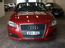 2009 Audi A3 8P Red 6 Speed Sports Automatic Dual Clutch Convertible Highett Bayside Area Preview
