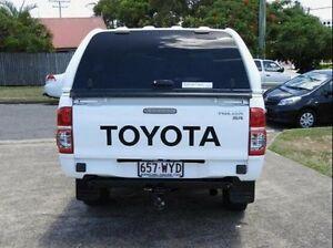 2011 Toyota Hilux KUN26R MY12 SR Double Cab White 4 Speed Automatic Utility Wynnum Brisbane South East Preview