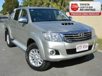 2013 Toyota Hilux KUN26R MY12 SR5 Xtra Cab Silver 5 Speed Manual Utility Kedron Brisbane North East Preview
