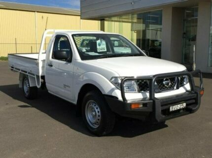 2011 Nissan Navara D40 RX Polar White 6 Speed Manual Cab Chassis Dubbo 2830 Dubbo Area Preview