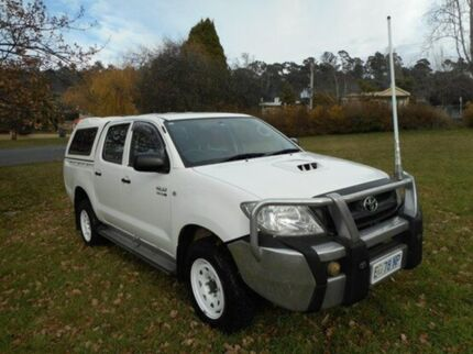 2009 Toyota Hilux KUN26R MY09 SR Glacier White 5 Speed Manual Utility Derwent Park Glenorchy Area Preview