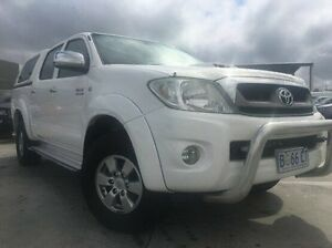 2009 Toyota Hilux KUN26R MY10 SR5 White 4 Speed Automatic Utility Invermay Launceston Area Preview