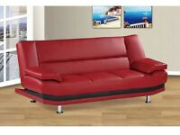 MILAN LEATHER SOFA BED ONLY £199 RRP £350