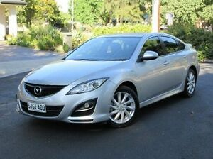 2012 Mazda 6 GH1052 MY12 Touring Silver 5 Speed Sports Automatic Hatchback Medindie Gardens Prospect Area Preview