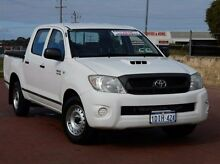 2010 Toyota Hilux KUN16R MY10 SR White 5 Speed Manual Utility Spearwood Cockburn Area Preview