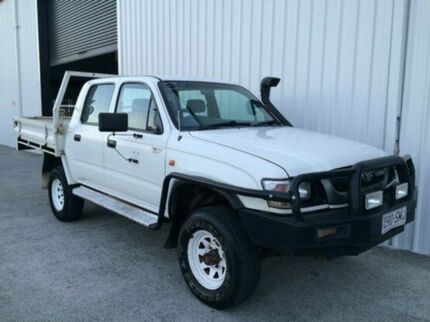 2002 Toyota Hilux LN167R MY02 White 5 Speed Manual Utility Parkwood Gold Coast City Preview