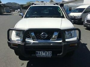 2007 Nissan Navara D40 ST-X White 6 Speed Manual Utility Wodonga Wodonga Area Preview