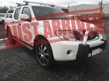 2012 Nissan Navara D40 S6 MY12 ST White 6 Speed Manual Utility Derwent Park Glenorchy Area Preview