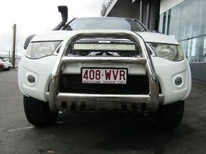 2010 Mitsubishi Triton MN MY10 GLX-R Double Cab White 5 Speed Manual Utility Earlville Cairns City Preview
