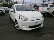 2013 Mitsubishi Mirage LA MY14 LS White 1 Speed Constant Variable Hatchback Heidelberg Heights Banyule Area Preview