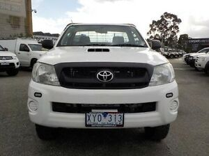 2010 Toyota Hilux White Manual Cab Chassis Pakenham Cardinia Area Preview