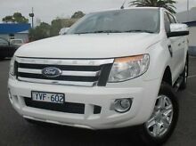 2012 Ford Ranger PX XLT Double Cab White 6 Speed Manual Utility Coburg North Moreland Area Preview