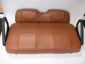 EZ-GO RXV Golf Cart Deluxe™ Vinyl Seat Covers-Front Set- Staple On(Saddle Brown)