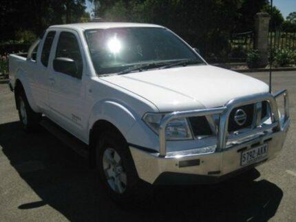 2011 Nissan Navara D40 S6 MY12 ST-X King Cab White 6 Speed Manual Utility Enfield Port Adelaide Area Preview