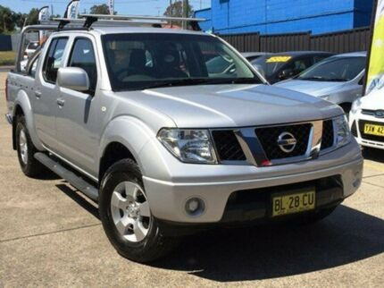 2011 Nissan Navara D40 MY11 ST Silver 5 Speed Automatic Utility Kings Park Blacktown Area Preview