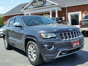 2016 Jeep Grand Cherokee Overland 4x4, Leather Heated Seats, DVD