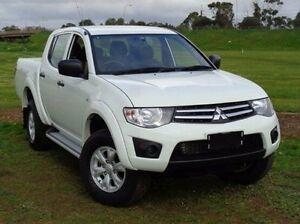 2014 Mitsubishi Triton MN MY15 GLX Double Cab White 4 Speed Sports Automatic Utility Elizabeth Playford Area Preview