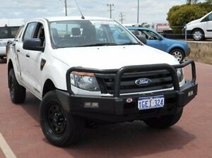 2014 Ford Ranger PX XL Double Cab White 6 Speed Manual Utility Spearwood Cockburn Area Preview
