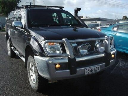 2007 Nissan Navara D40 ST-X Black 6 Speed Manual Utility Mount Gambier Grant Area Preview