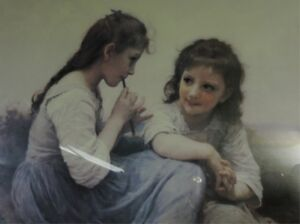 """""""A Childhood Idyll"""" Classic print by William-Adolphe Bouguereau. London Ontario image 3"""