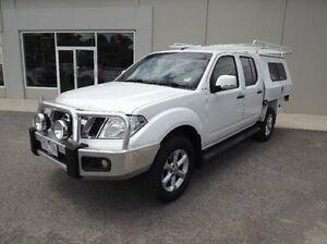 2012 Nissan Navara D40 S6 MY12 ST White 6 Speed Manual Utility Yarrawonga Moira Area Preview