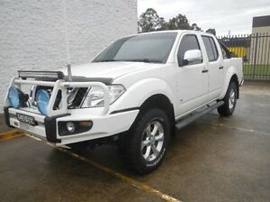 2012 Nissan Navara D40 S5 MY12 ST-X 550 White 7 Speed Sports Automatic Utility Windsor Hawkesbury Area Preview
