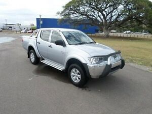 2012 Mitsubishi Triton MN MY12 GL-R Double Cab Silver 5 Speed Manual Utility Hyde Park Townsville City Preview