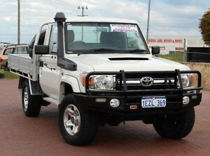 2012 Toyota Landcruiser VDJ79R MY13 GXL White 5 Speed Manual Cab Chassis Spearwood Cockburn Area Preview